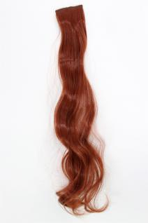 2 Clips Extension Strähne wellig Rost-Rot YZF-P2C25-130 65cm Haarverlängerung