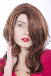 Perücke, Wig, brünett, Strähnen-blond, gestuft, Länge: ca 55cm, GFW976-33H130H27