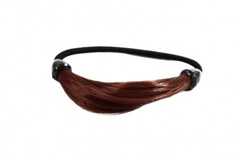 Unsichtbarer Haargummi in Haaroptik Kunsthaar Zopfgummi Kupferrot NHA-003B-350
