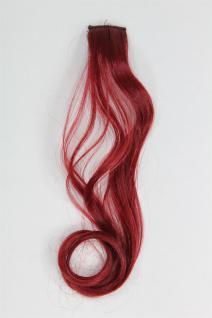 1 Clip Extension Strähne Haarverlängerung wellig Kupferrot 45cm YZF-P1C18-T1557