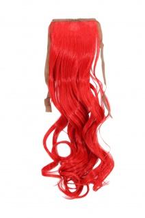Haarteil ZOPF Rot wellig 45cm YZF-TC18-113 Band Haar Klammer Haarverlängerung