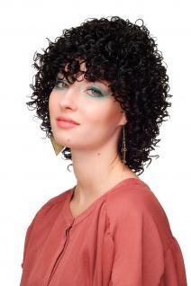 Damenperücke Perücke Stark Gelockt Kurz Schwarz Afro Karibik Style WL-2218AB-1B