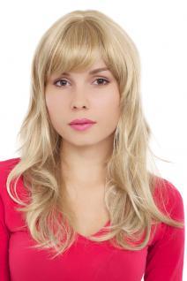 Perücke, Wig, blond-hellblond, wellig, Pony, Länge: ca. 50 cm, GFW242-24H613