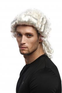 Perücke Herren Karneval Barock Renaissance Weiß Zöpfe Edelmann Adliger Lord