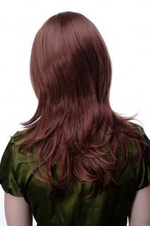 Damenperücke lang Perücke Rotbraun Braun Pony Scheitel frisierbar gestuft 4038 - Vorschau 4