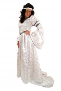 Kostüm Jaquard KLEID Märchen Mittelalter Gothic Romantik weiß K22 - Vorschau 4