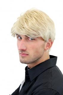 Perücke Herren Männer Kurz Jugendlich Lässig Modisch Blond Scheitel GFW967-22 - Vorschau 4