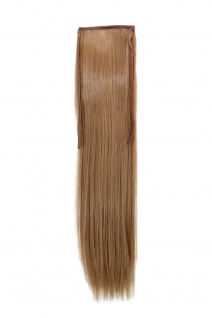 Haarteil ZOPF Blond glatt 45cm YZF-TS18-18 Band Haar Klammer Haarverlängerung