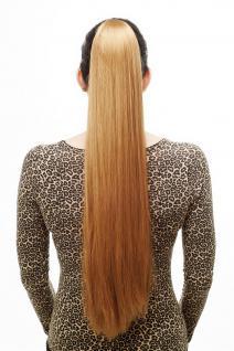 Haarteil/Zopf, sehr lang, glatt, Butterfly-Klammer, ca. 70 cm, Blond, T113-25