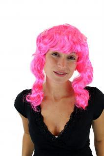 Karneval Fasching Cosplay PERÜCKE pink Locken Schleifen VZ-065 Gothic Lolita