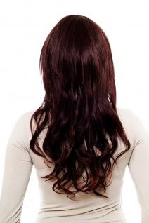 Wellige langhaarige Perücke Seitenscheitel Aubergine-Braune Haare H9384E-2T33 - Vorschau 3