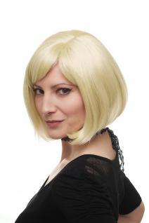 Sexy gescheitelte Damenperücke Perücke kurz Bob warmes helles Blond 3270-88E