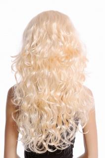 Perücke Damen Karneval Fasching blond Locken wellig Volumen Mittelscheitel 70631 - Vorschau 4