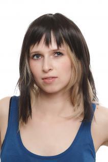 Haarteil, Clip-In, Haaraufsatz, Topaufsatz, Haarersatz, Toupet, schwarz, H9302-2