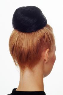 WIG ME UP Dutt Haarknoten Bun Haarteil 60er Jahre Vintage Look Schwarz NHA-004D - Vorschau 4