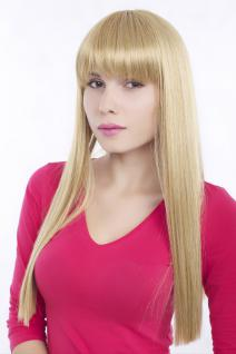Perücke, Wig, modern, blond, Pony, gerader Schnitt, Länge: ca. 60cm, GFW373-LG26