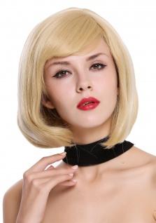 Perücke Damenperücke kurz Bob Longbob Scheitel Blond Platin Highlight gesträhnt