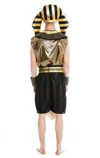 Kostüm Herren Männer Karneval Halloween Ramses Ägypter Pharao S/M - Vorschau 4