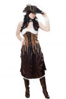 Kostüm Damen Damenkostüm Set Piratin Piratenbraut Freibeuterin L051