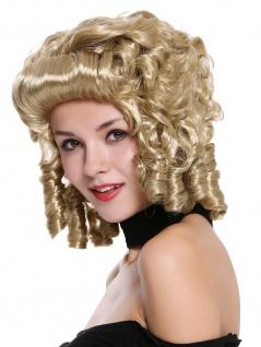Perücke Damen Karneval Barock Südstaaten Blond Locken Edeldame Königin 91023