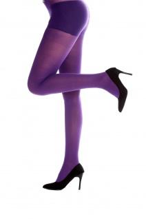 Strumpfhose Pantyhose Damenkostüm Karneval Halloween dehnbar lila WZ-012PU
