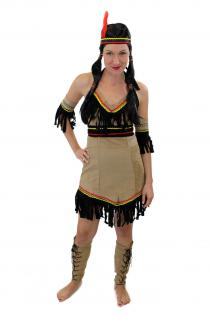 Tolles Set: Kostüm Damen Damenkostüm Indianerin Squaw Indianerfrau L019 XS, S, M, L - Vorschau 3