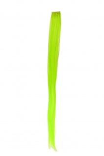 1 Clip Extension Strähne Haarverlängerung glatt Hellgrün 63cm YZF-P1S25-TF2606
