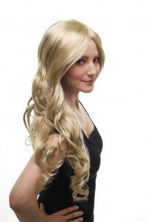 Damenperücke Perücke lang wellig etwas gelockt hellblond blond Scheitel 3274-234 - Vorschau 4