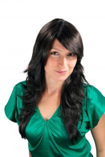 Damen Wig Schokoladenbraun Perücke Wellen gestuft Frisur Haarersatz 55cm 3220-4
