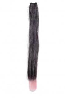 1 Clip-In Extension Strähne Haarverlängerung glatt Rosa 45cm YZF-P1S18-1BT2333