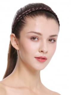 Haarband Haarreif geflochten Tracht traditionell braun braid CXT-008-035