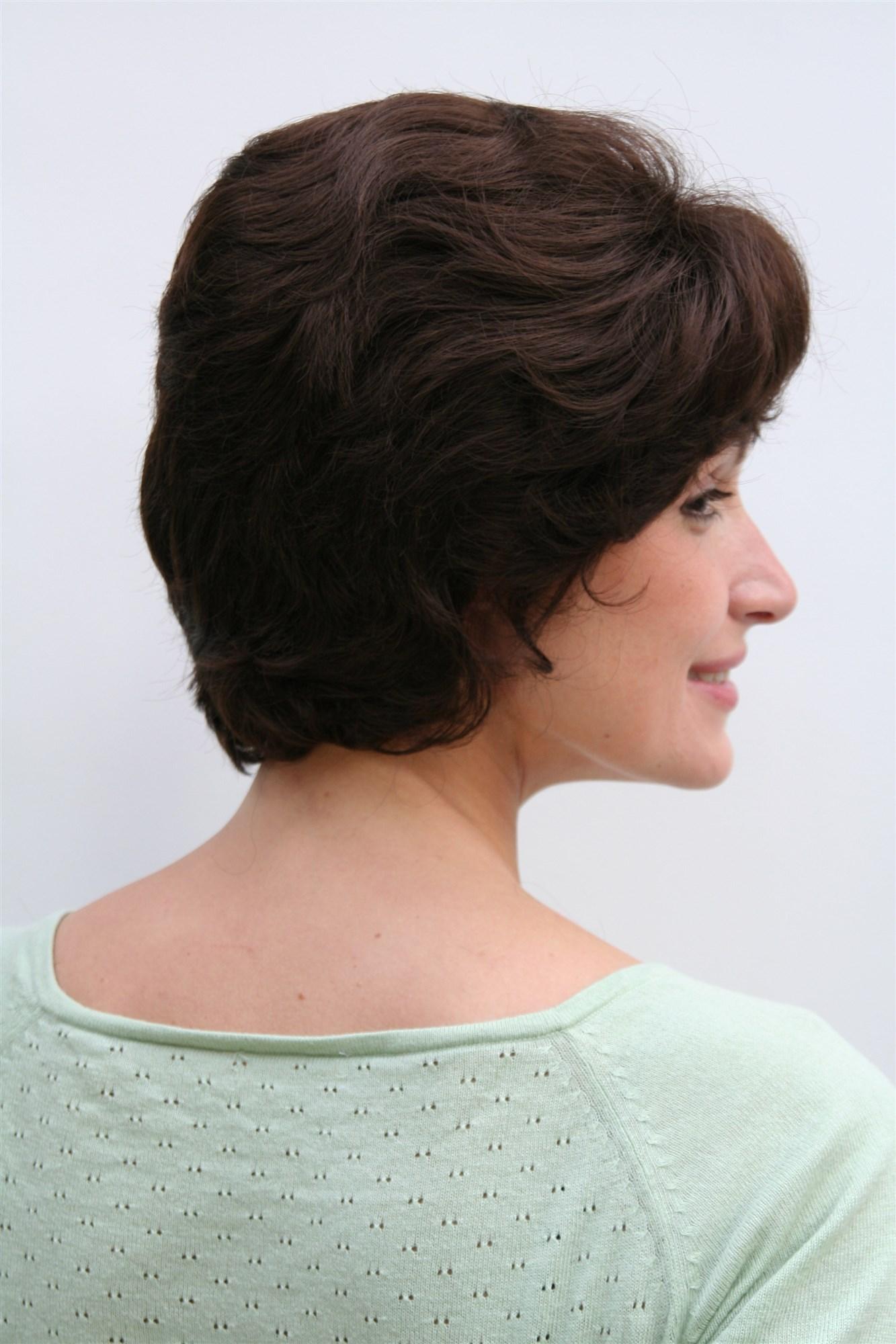 Perücke Damenperücke braun dunkelbraun kurze Haare