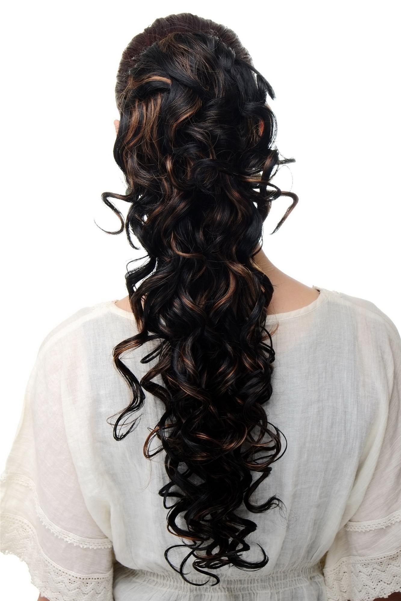 Haarteil locken braun