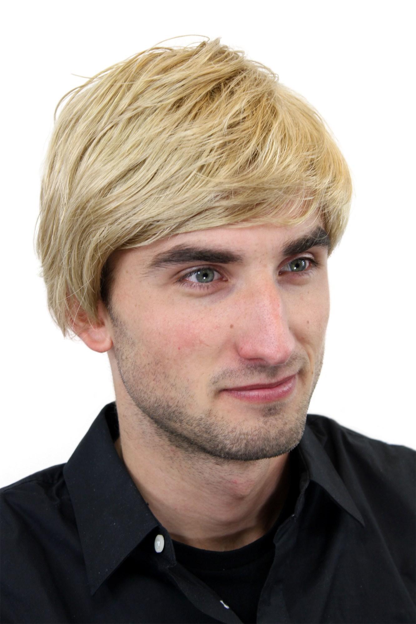 Herrenperucke Perucke Manner Blond Scheitel Herren Kurzhaarfrisur Gfw993 25