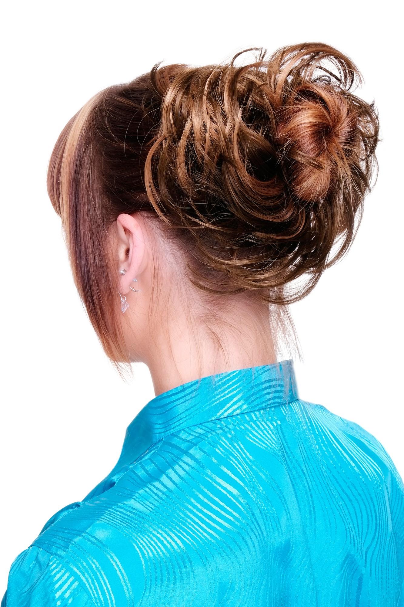 Mit strähnen blonden braun frisur Frisuren Mittellang
