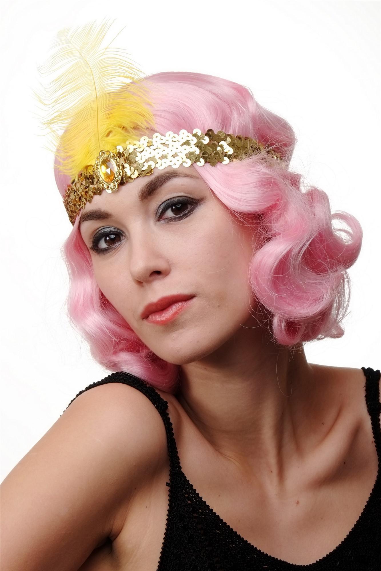 offizieller Shop billiger Super günstig Haarband Haarreif Stirnreif Pailletten gold Charleston 20er Cabaret  VQ-006-Gold
