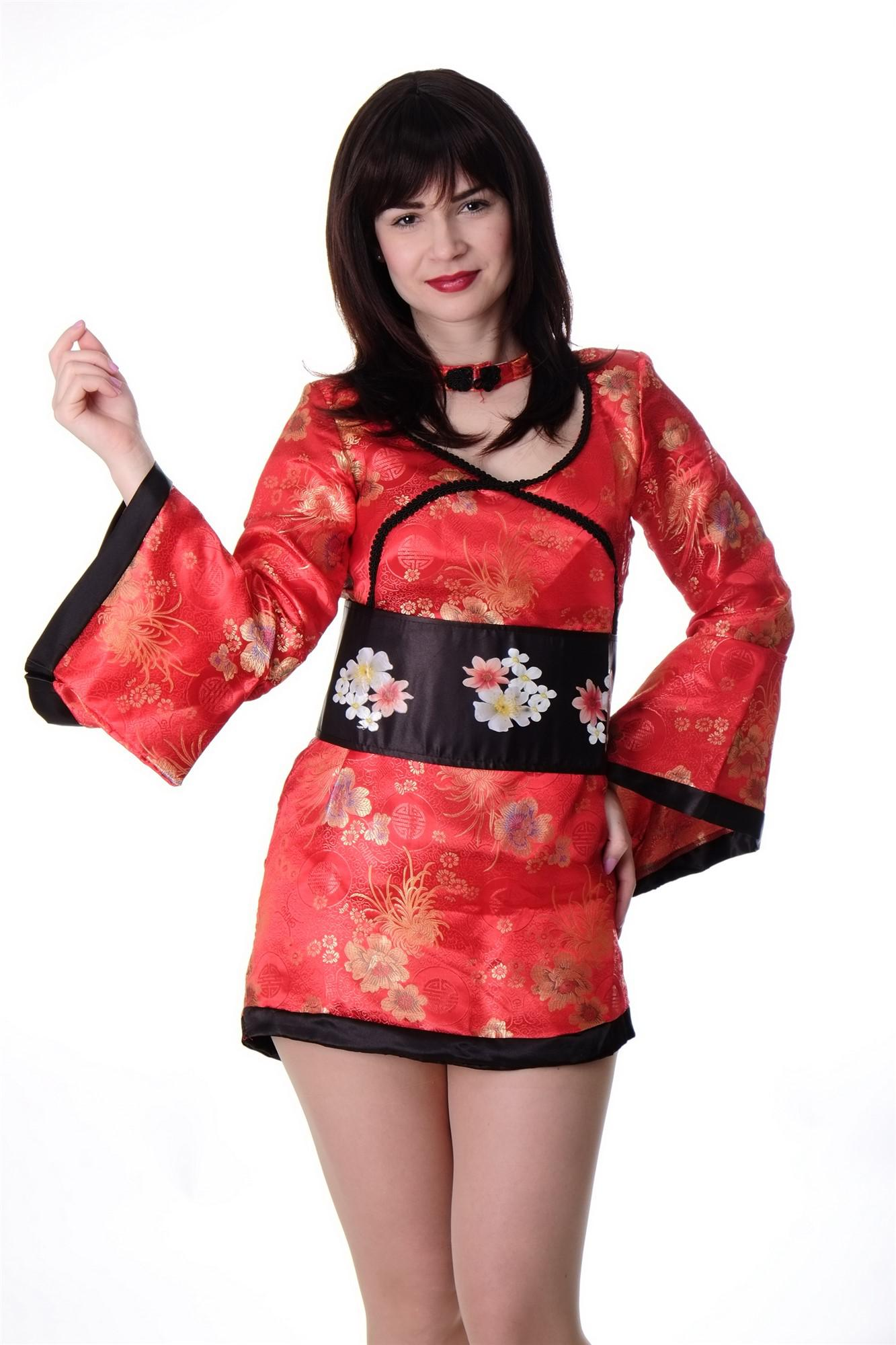 dress me up kost m damen damenkost m china girl geisha kimono kurtisane gr s m kaufen bei vk. Black Bedroom Furniture Sets. Home Design Ideas