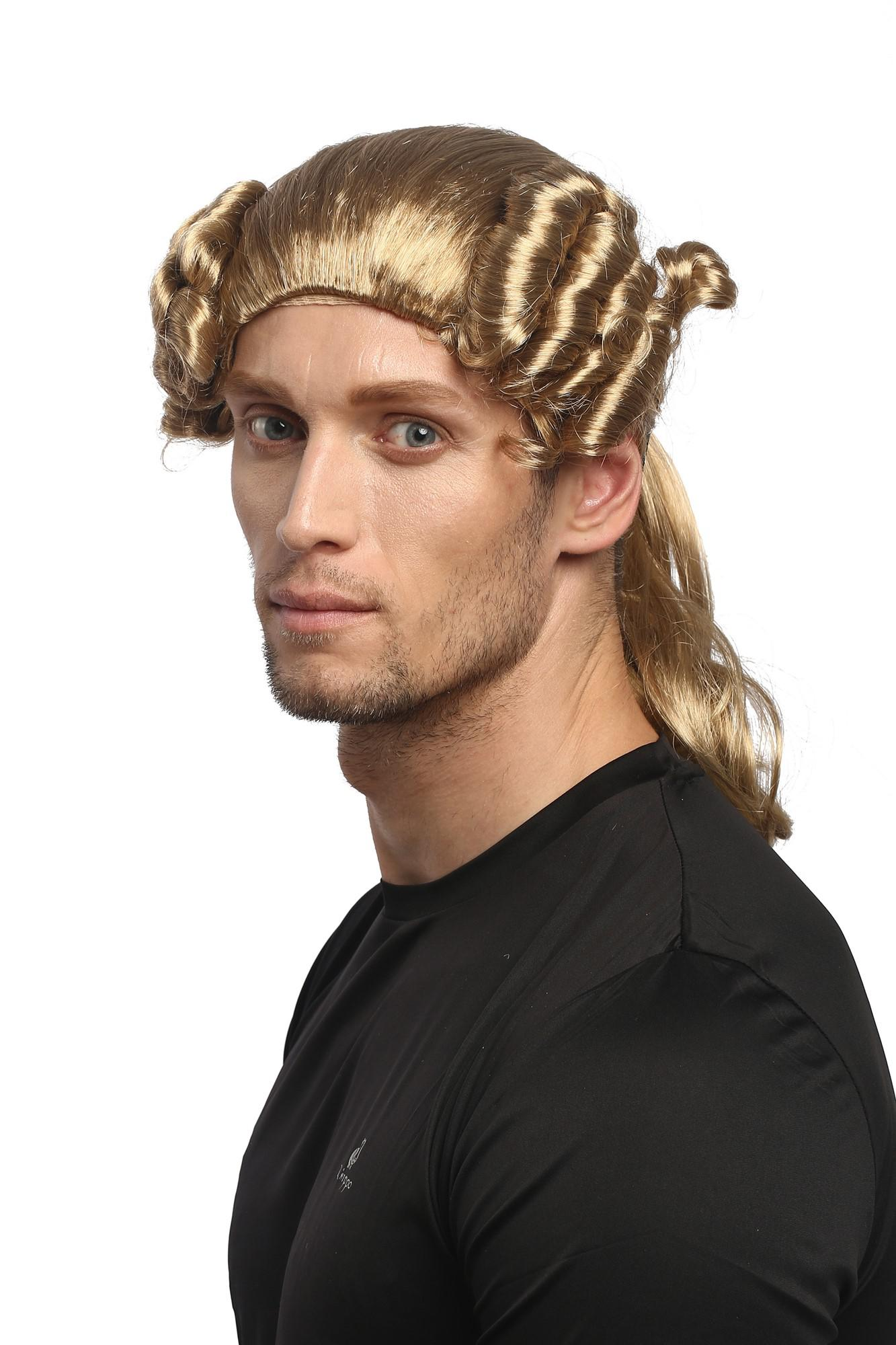 perücke herren karneval barock renaissance lockig blond