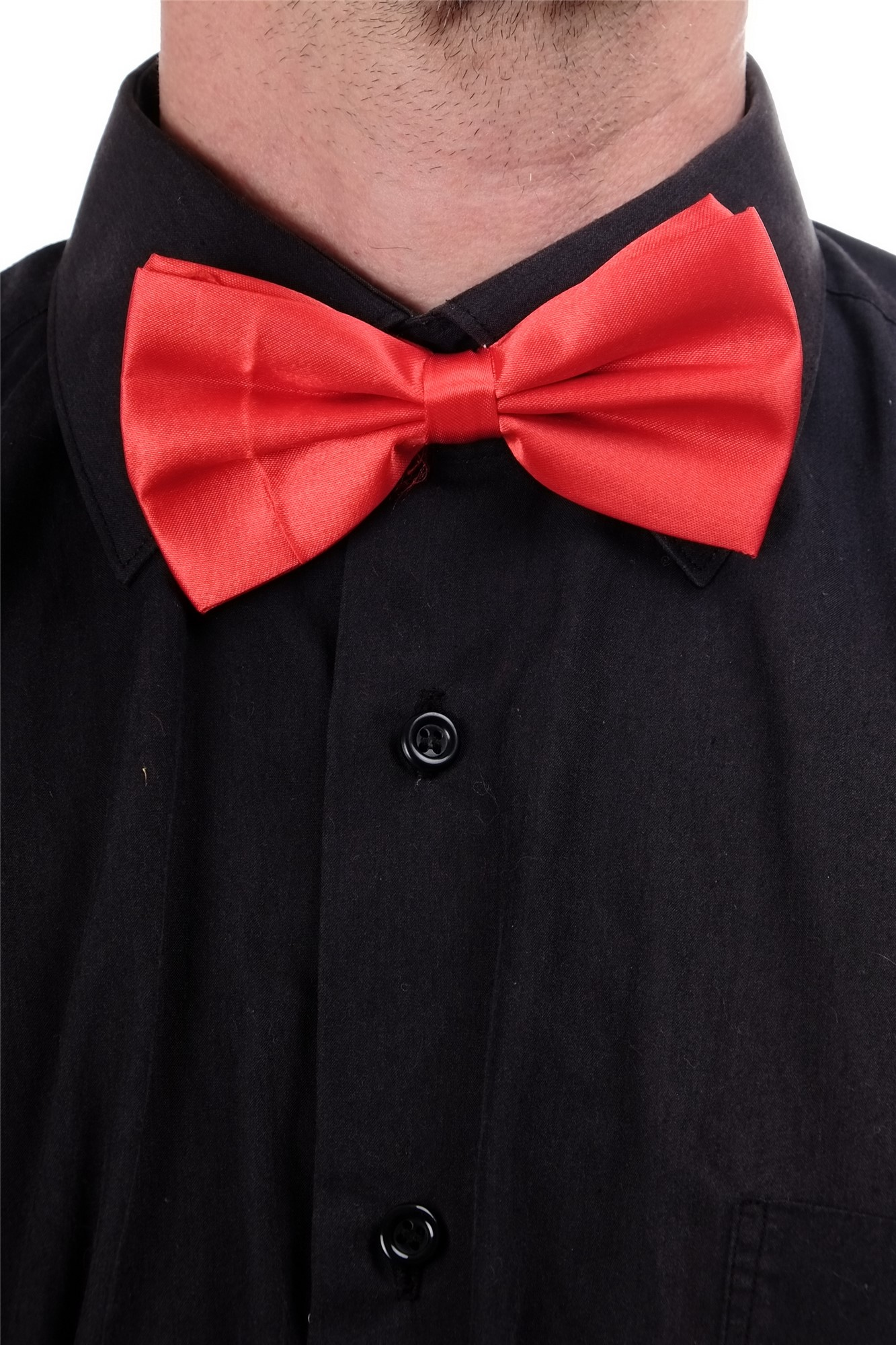 Halloween Karneval Fliege Bowtie Dompteur Zirkusdirektor Clown Rot W-071R-red
