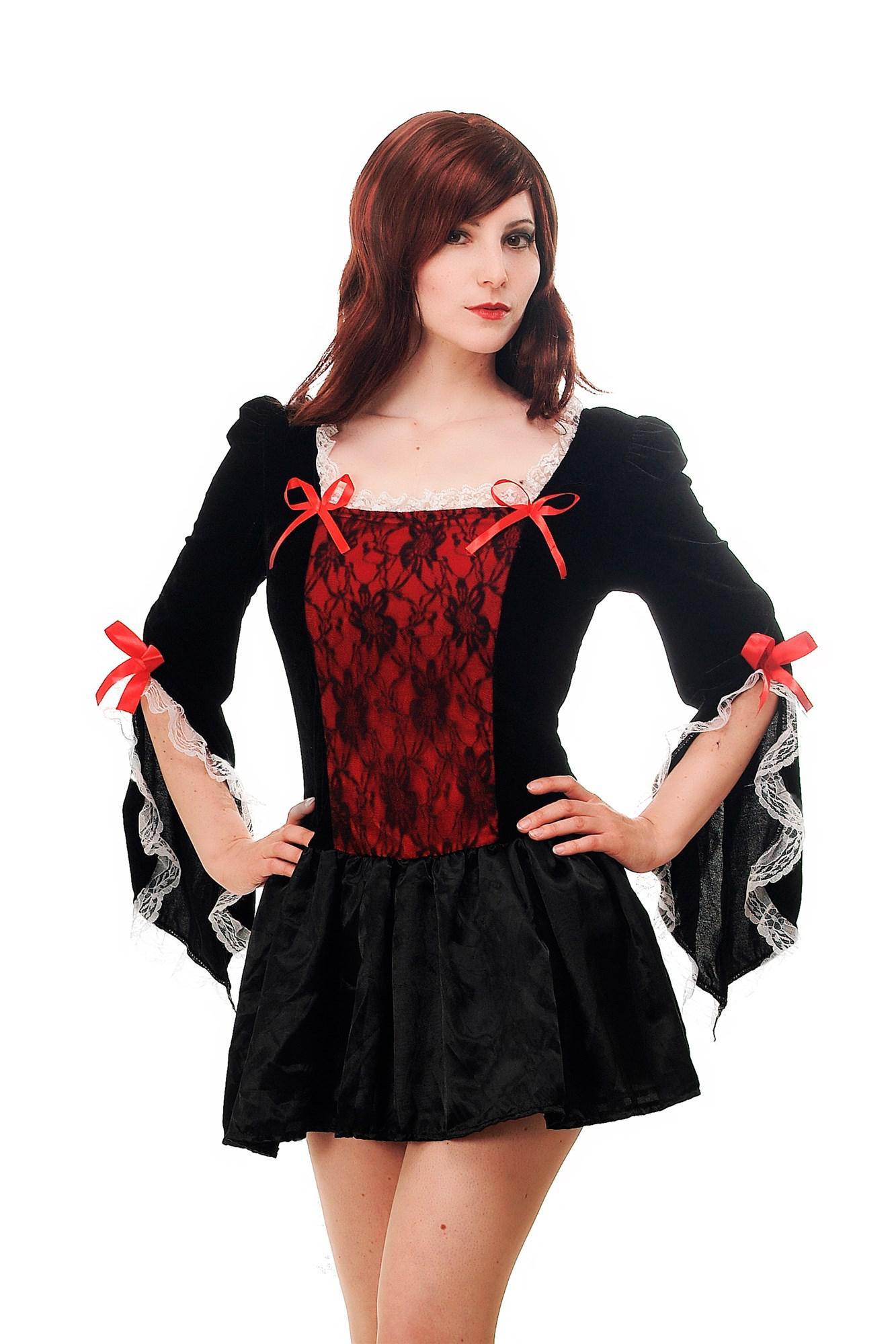 Kostüm Damen Kleid Sexy Barock Gothic Cosplay Märchen Piratin French ...
