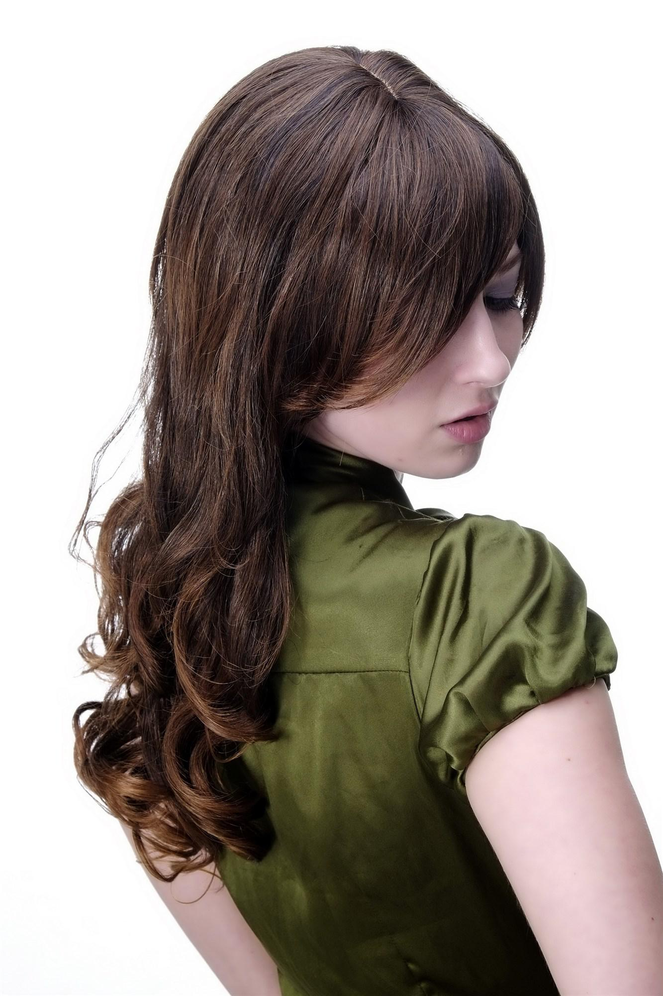per cke damenper cke braun scheitel lockige lange haare ca 60 cm 9319 2t30 wig kaufen bei vk. Black Bedroom Furniture Sets. Home Design Ideas