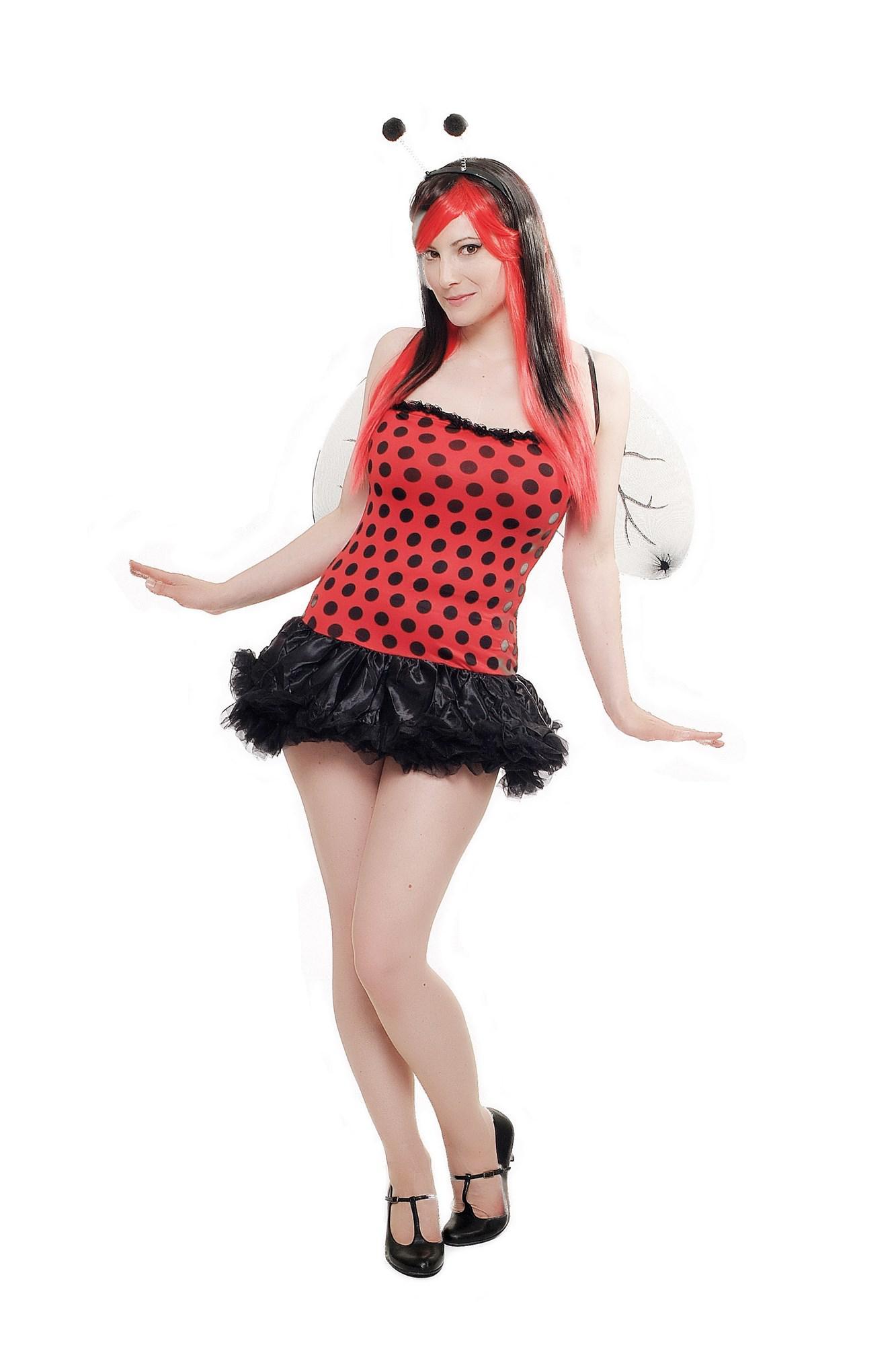 kost m damen komplett set sexy marienk fer ladybug. Black Bedroom Furniture Sets. Home Design Ideas