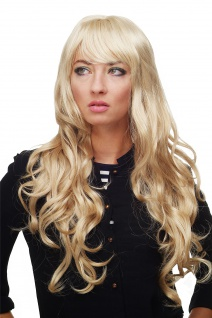 Damen Perücke Blond-Mix Locken Wellig Lang Seitenscheitel ca. 70 cm 9204S-611B