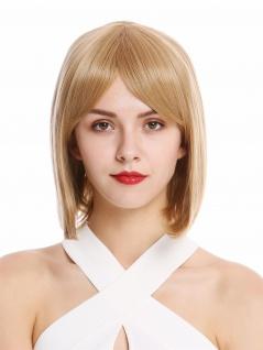 Perücke Damenperücke kurz schulterlang Bob Longbob Mittelblond Blond Perrücke