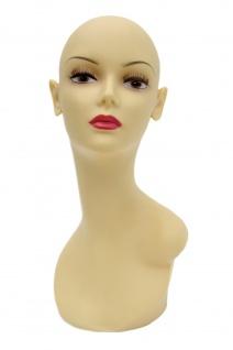 DEKOKOPF PERÜCKENKOPF weiblich Büste heller Teint Mannequin Kopf Deko PQ617