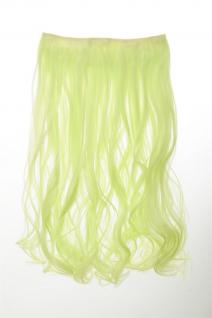 Haarteil Extension breite Haarverlängerung 5 Clips lockig Neongrün YZF-3178
