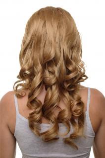 Clip-in Haarteil mit 7 Klammern 3/4 Perücke Blond Erdbeerblond ca. 50cm H9503-27