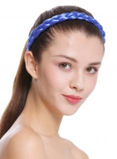 Haarband Haarreif geflochten Tracht traditionell neonblau braid CXT-006-813