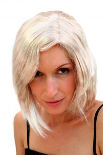 Perücke wilder Scheitel blond hellblond Vamp Diva Faschingsperücke kurz PW0121