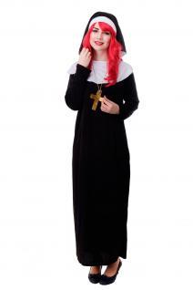 DRESS ME UP - Kostüm Damen Damenkostüm Nonne Schwester Oberin katholisch Gr. S/M